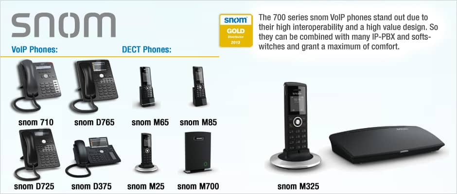 snom 700 series VoIP phones
