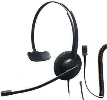 Addasound Crystal 2731 Monaural Headset + DN1008 adapter cable
