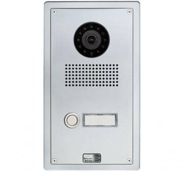 Telecom Behnke series 5 silver 1 button IP doorstation Aluminium 5-0001-IP flushmount