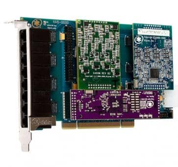 Digium HA8-0000BLF Hybrid Base Card PCI 8 Ports + HW EC