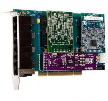 Digium HB8-0000LF Hybrid Base Card PCIe 8 Ports