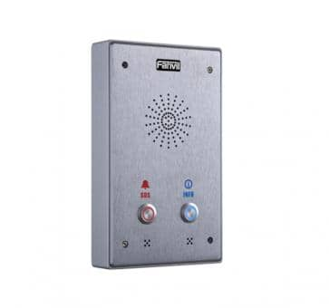 Fanvil i12 SIP Audio Intercom with two buttons PoE silver