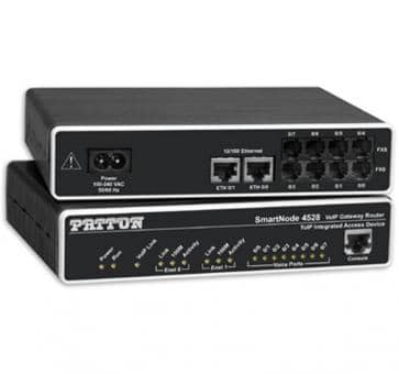 Patton SmartNode 4528 4x FXS & 4x FXO VoIP Gateway Router SN
