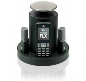 Revolabs FLX 2 analog conferencing system with two directional microphones