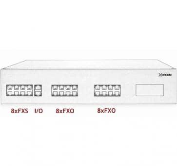 Xorcom IP PBX - 8 FXS + 16 FXO - XR2007