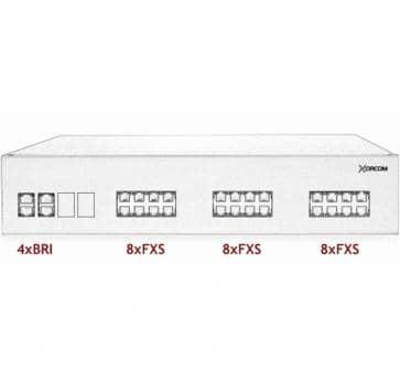 Xorcom IP PBX - 4 BRI + 24 FXS - XR2032