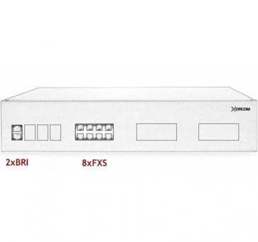 Xorcom IP PBX - 2 BRI + 8 FXS - XR2033