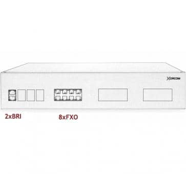 Xorcom IP PBX - 2 BRI + 8 FXO - XR2087