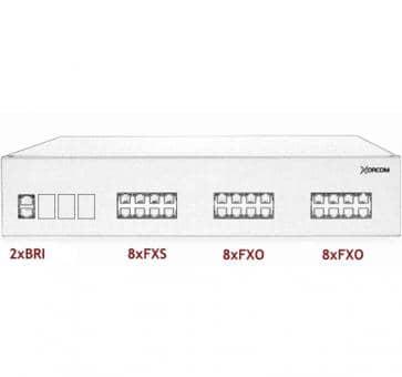 Xorcom IP PBX - 2 BRI + 8 FXS + 16 FXO - XR2091