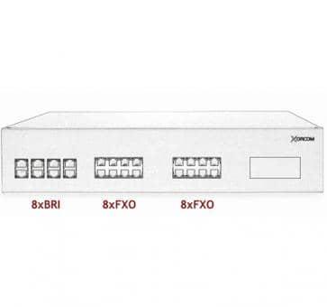 Xorcom IP PBX - 8 BRI + 16 FXO - XR2100