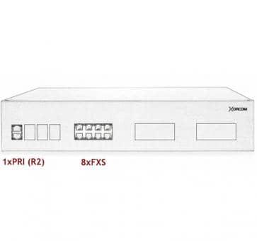 Xorcom IP PBX - 1 PRI + 8 FXS - XR3048